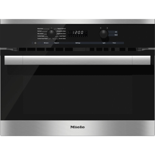 Miele - H 6100 BM AM - 24 Inch Speed Oven With electronic clock/timer and combination modes for quick, perfect results.