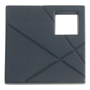 Modernist Left Square Knob 1 1/2 Inch - Matte Black Product Image