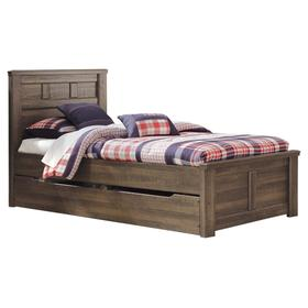 Juararo Twin Panel Bed With Trundle or 1 Large Storage Drawer