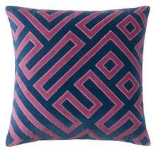 See Details - Best Seller Maze Pillow, NAVY, 22X22