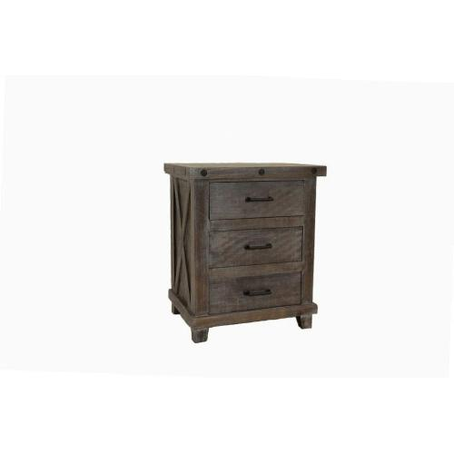 L.M.T. Rustic and Western Imports - Stone Creek Industrial Nightstand
