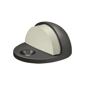 Dome Stop Low Profile, Solid Brass - Oil-rubbed Bronze