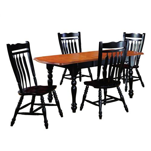 Drop Leaf Extendable Dining Set w/Aspen Chairs (5 Piece)
