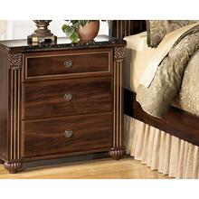 Gabriela Three Drawer Night Stand Dark Reddish Brown
