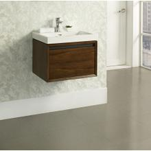 """See Details - m4 21x18"""" Wall Mount Vanity - Natural Walnut"""