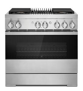 """NOIR™ 36"""" Dual-Fuel Professional Range with Gas Grill"""