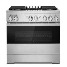 """See Details - NOIR™ 36"""" Dual-Fuel Professional Range with Gas Grill"""