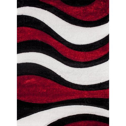 """Sorrento 725 Shag Area Rug by Rug Factory Plus - 5'4"""" x 7'3"""" / Red"""
