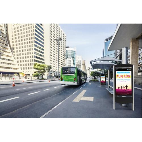 Outdoor Smart City Kiosk Designed for Samsung OHF Displays - 55 / Silver