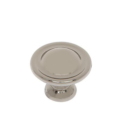 "Polished Nickel 1-1/8"" Dome Knob"