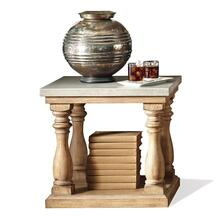 See Details - Sherborne End Table with Natural Concrete Top and Toasted Pecan Finish