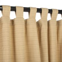See Details - Sunbrella Dupione Bamboo Outdoor Curtain with Tabs