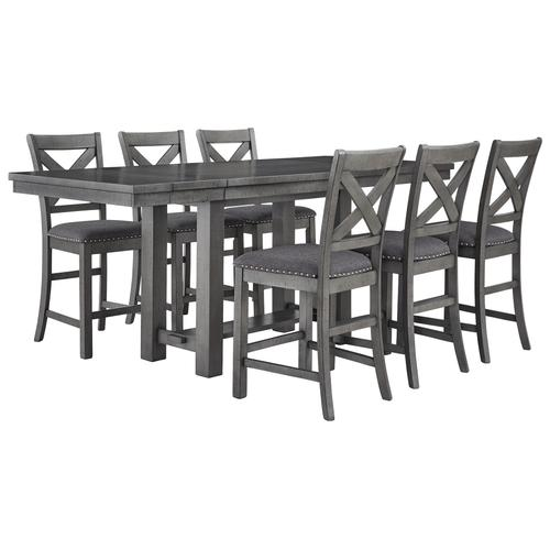 Gallery - Counter Height Dining Table and 6 Barstools