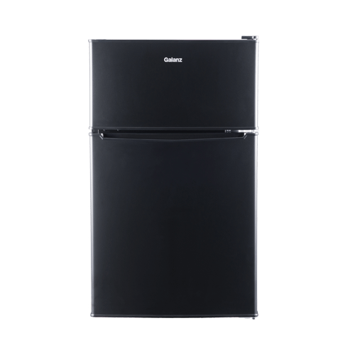 Galanz 3.1 Cu Ft Top Mount Refrigerator in Black