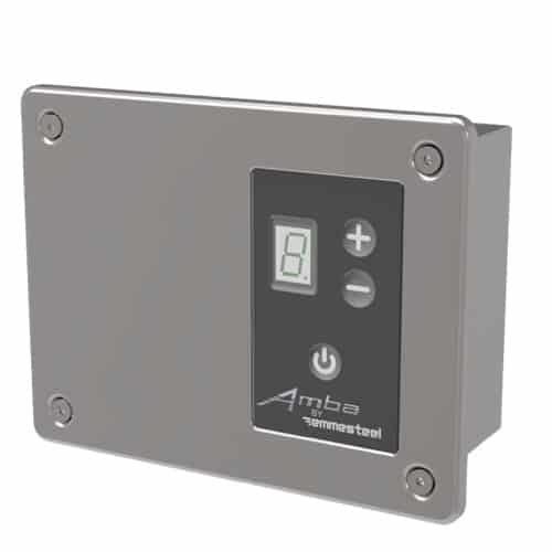 Remotely Wired Digital Heat Controller - Polished