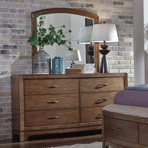 Liberty Furniture Industries - Queen Panel Storage Bed, Dresser & Mirror, Chest