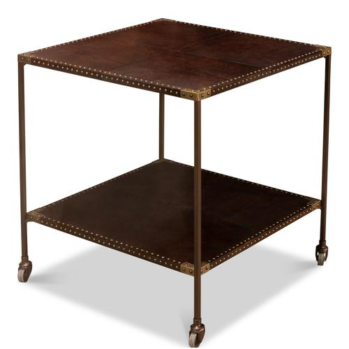 Trolley Lamp Table W/ Casters