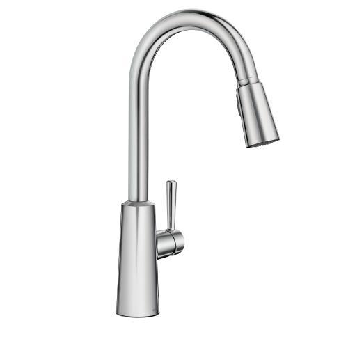 Riley Chrome high arc pulldown kitchen faucet
