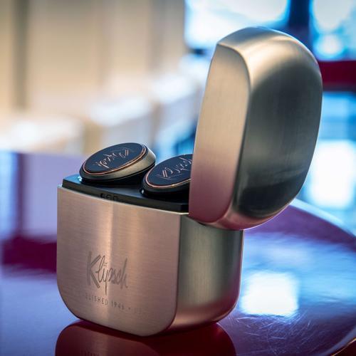 Klipsch - T5 True Wireless Earphones - Black/Silver