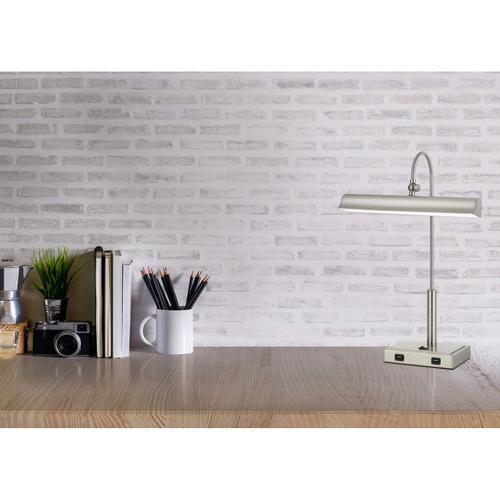 Novara 10W LED Metal Desk Lamp With 2 USB Outlets