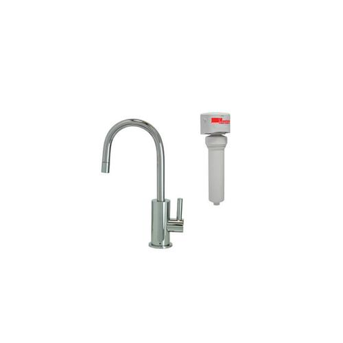 Point-of-Use Drinking Faucet with Contemporary Round Base & Handle & Mountain Pure® Water Filtration System - Polished Chrome