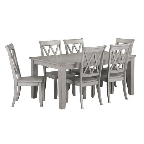 Gallery - Vintage Rectangular Dining Table, Grey
