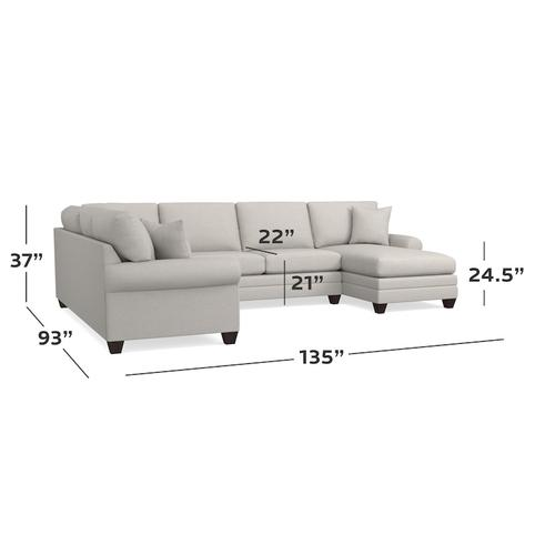 CU.2 U-Shaped Sectional, Arm Style Sock