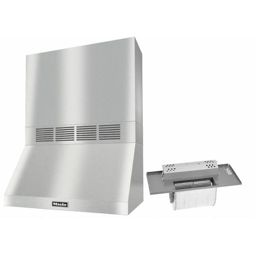 """DAR 1230 Set 5 Wall-Mounted Range Hood With Circulation Mode with integrated XL motor including 24"""" chimney cover"""
