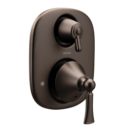 Wynford oil rubbed bronze moentrol® with transfer valve trim
