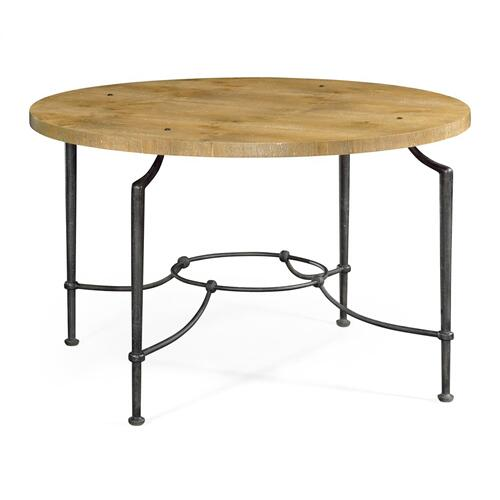 Round Centre Table with Iron Base