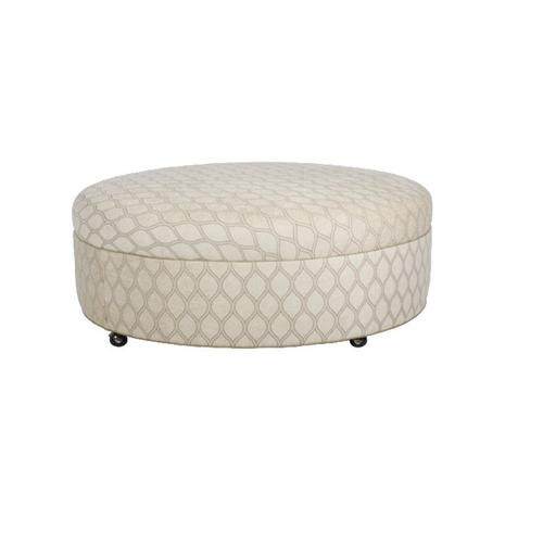 Cox Manufacturing - Round Ottoman with Plain Top/Casters
