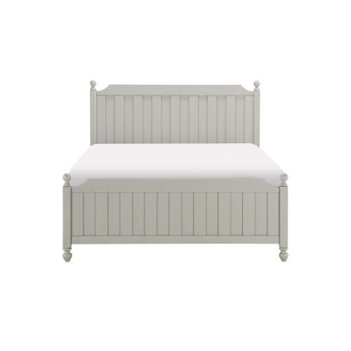 Queen Bed, Gray