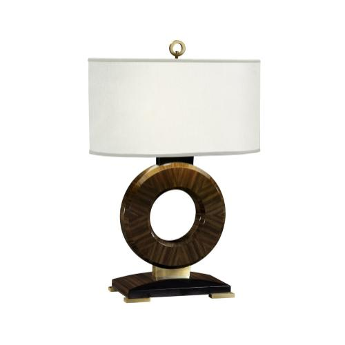 Porthole Macassar Ebony High Lustre Table Lamp