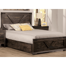 Chattanooga Queen 4 Drawer Storage Platform Bed With 22'' Low Footboard