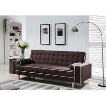7567 BROWN Linen Futon Sofa Bed