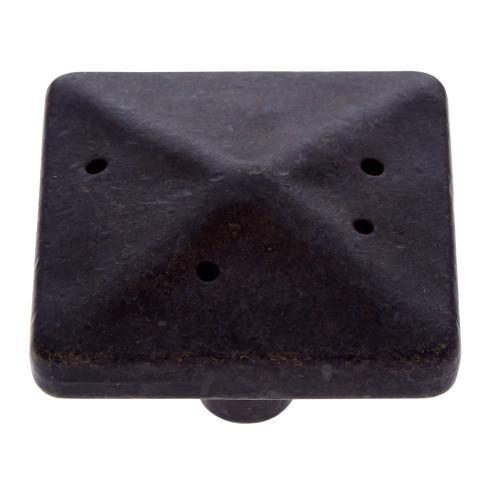 """Rustic Bronze 1-3/4"""" Rustic Square Knob"""