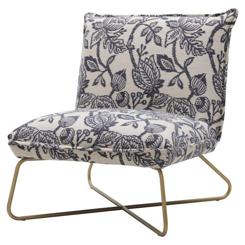 Yukon Fabric Accent Chair, Azure Floral