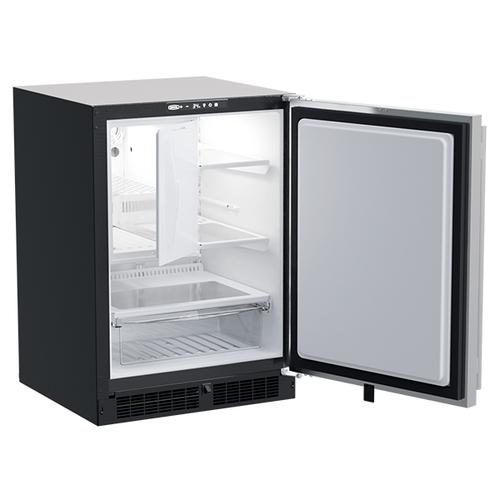 Marvel - 24-In Built-In Refrigerator Freezer with Door Style - Stainless Steel