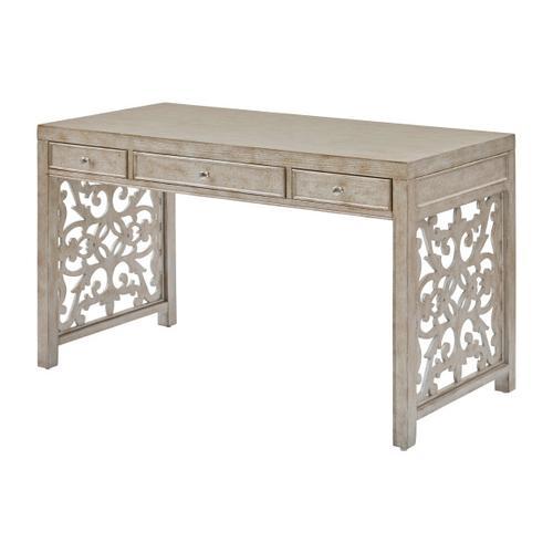 Accentrics Home - Trellis Accent Three Drawer Desk in Antique Silver