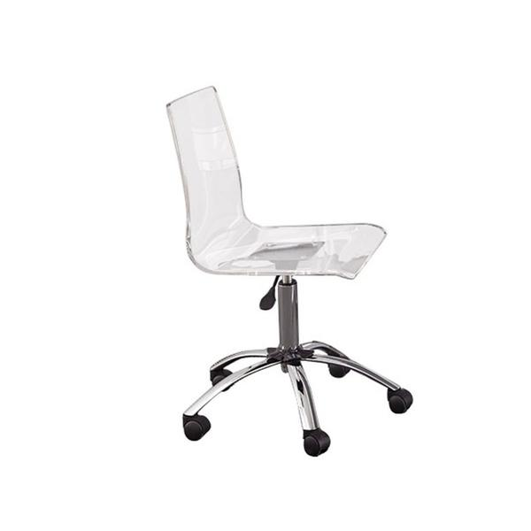 Arthur Adjustable Swivel Chair, Clear