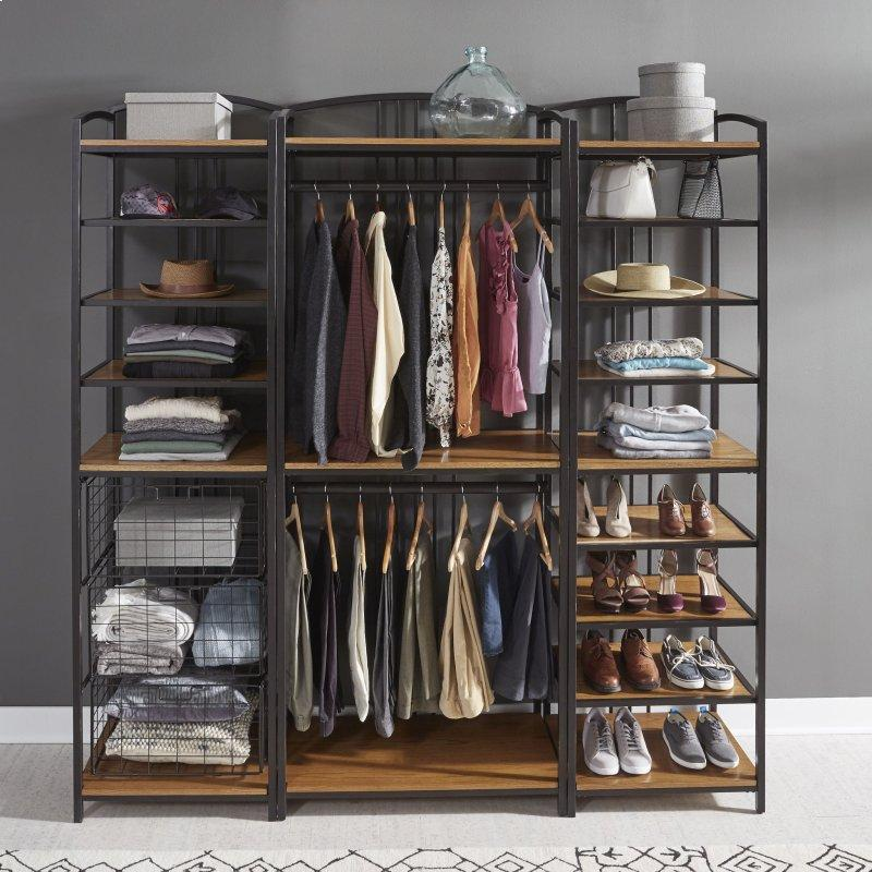 Modern Craftsman 3 Piece Closet Wall Storage Unit