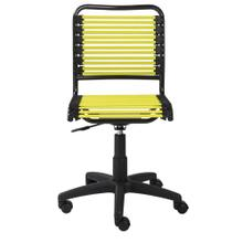 See Details - Allison Bungie Flat Low Back Office Chair In Lime With Graphite Black Frame and Black Base