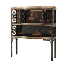 Chocolate Garden Bar & Curio Cabinet