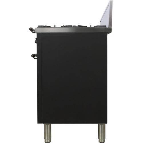 Product Image - Nostalgie 30 Inch Gas Liquid Propane Freestanding Range in Matte Graphite with Bronze Trim