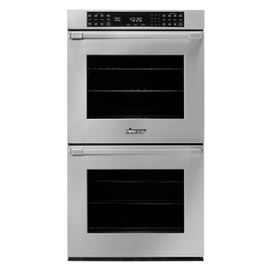 "27"" Double Wall Oven, Silver Stainless Steel with Pro Style Handle Product Image"