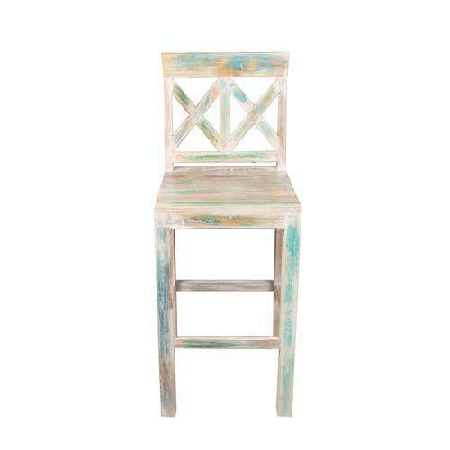 Capris Furniture - 24'' Bar Stool, Available in Recycled Finish.