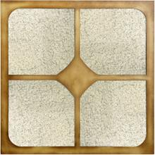 See Details - FIONA MIRROR  Antique Brass Finish on Resin Frame  Plain Glass Beveled Mirror