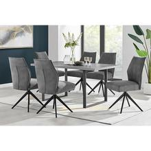 Product Image - Fenton and Charcoal Monarch 7 Piece Modern Rectangular Dining Set