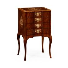 Vanity/ Jewellery Cabinet with Fine MOP & Marquetry Inlay