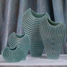 Ripple Vase-Azure-XLg